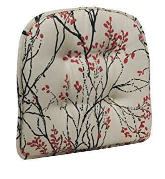 The Gripper Myla Tufted Chair Pad, Cherry Red