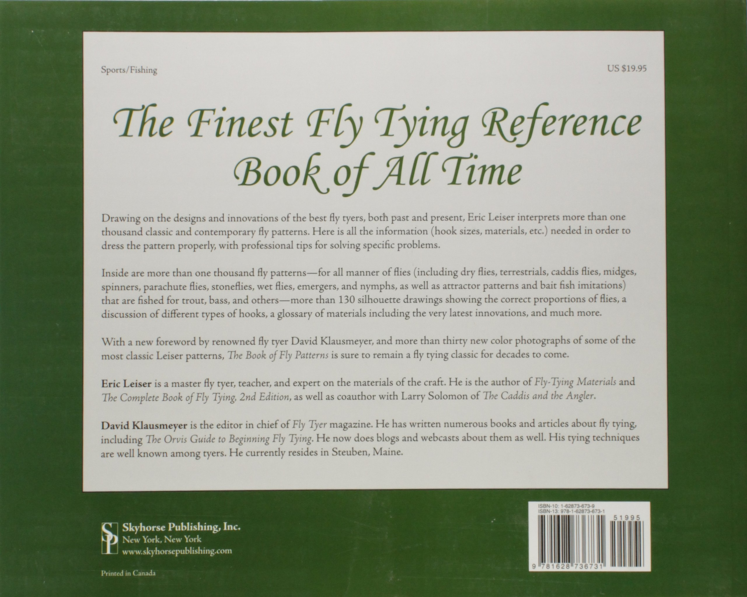The Book of Fly Patterns: Over 1, 000 Patterns for the Construction of  Artificial Flies: Eric Leiser, David Klausmeyer: 9781628736731: Amazon.com:  Books