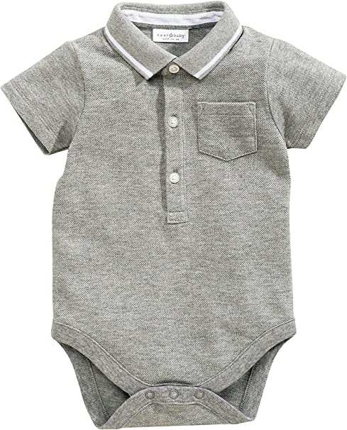 next Bebé Niño Body Estilo Camisa Polo con Botones Mono Bolsillo ...