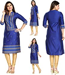 Unifiedclothes Women Fashion Printed Indian Kurti Tunic Kurta Top Shirt Dress MM140