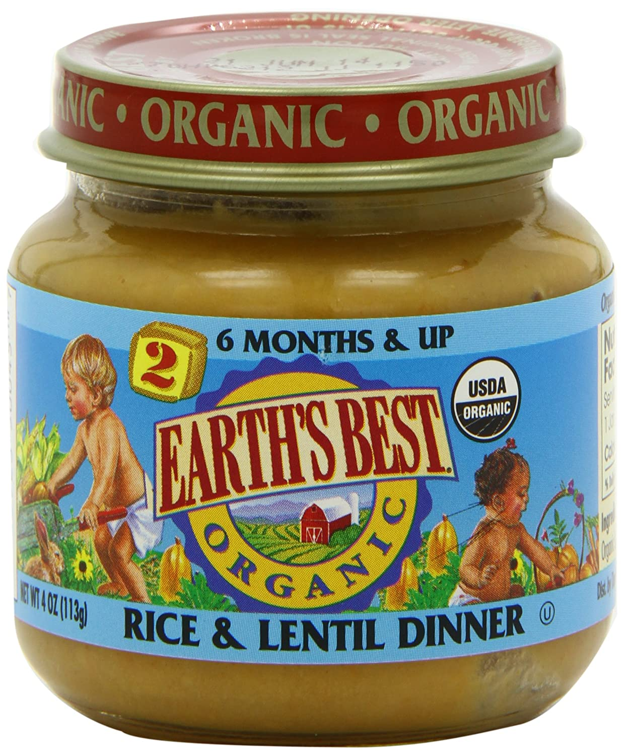 Earths best organic baby food rice lentil dinner 4 ounce pack earths best organic baby food rice lentil dinner 4 ounce pack of 12 amazon grocery gourmet food forumfinder Choice Image