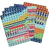 Set calendario e promemoria adesivi. 1.152 adesivi. Autoadesivi colorati per pianificazione.