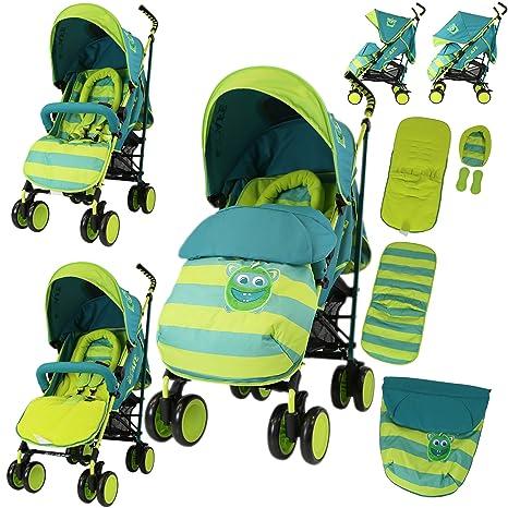 Cochecito de bebé con diseño LiL Friend completo con funda para pies, protector de cabeza