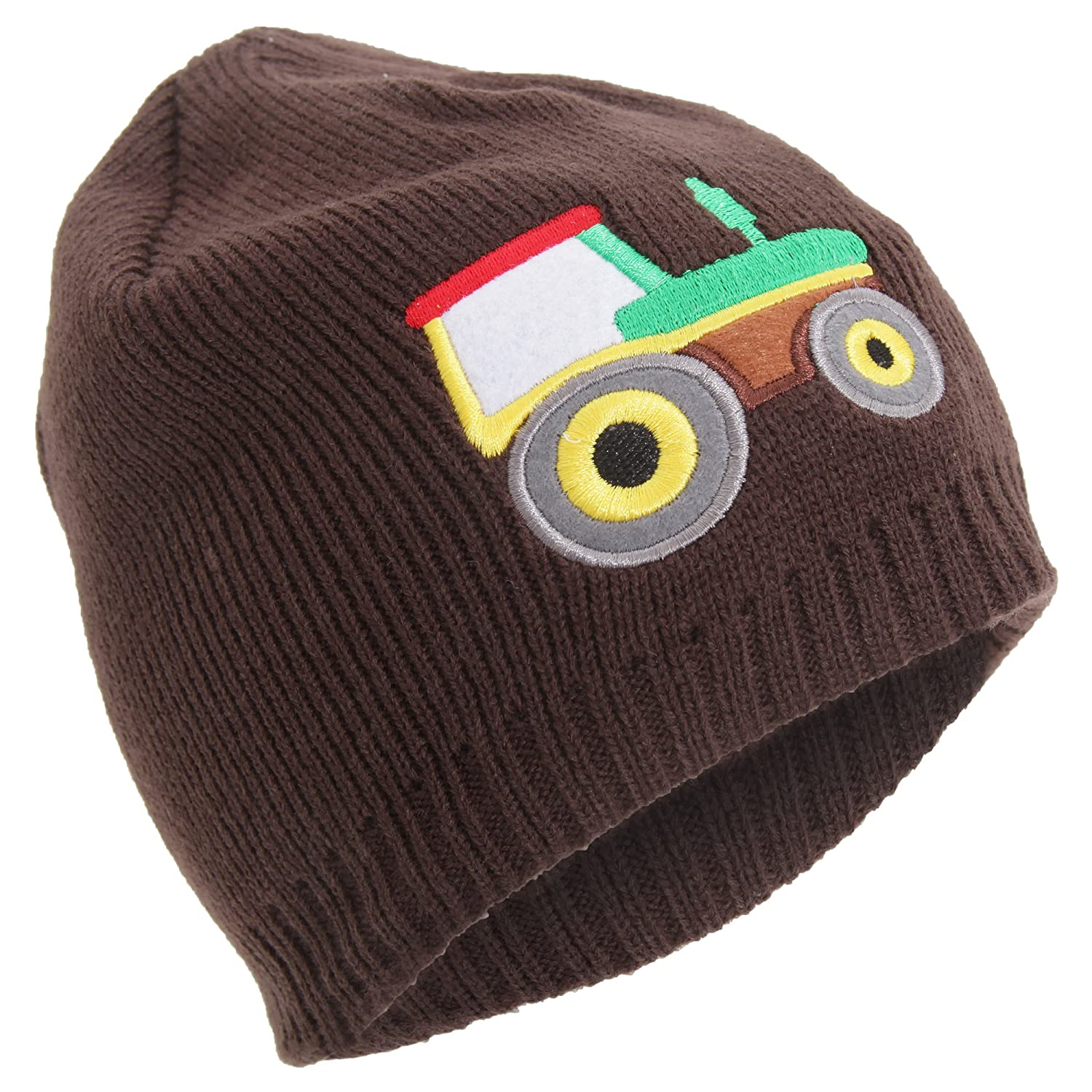 Universal Textiles Childrens/Boys Embroidered Fleece Lined Winter Beanie Hat UTHA533_2