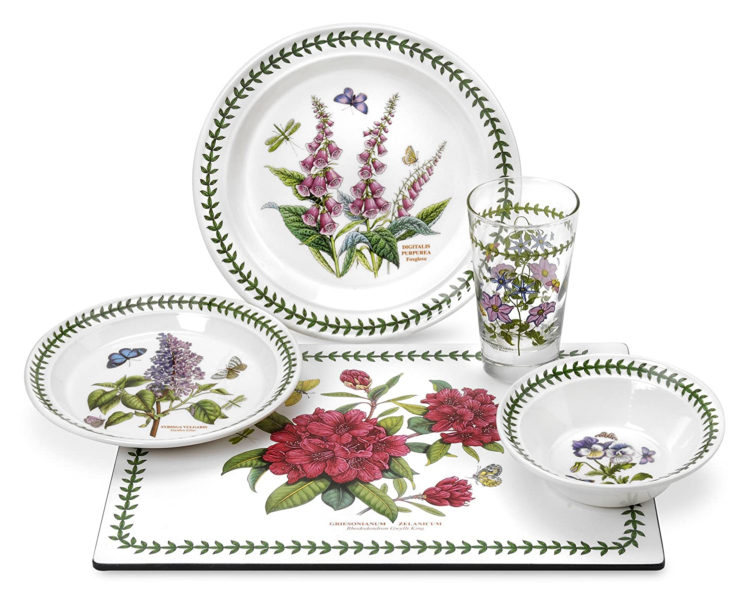 Portmeirion dinnerware botanic garden 21 piece set for Portmeirion dinnerware set of 4 botanic garden canape plates