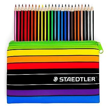 Staedtler – Noris Color – 24 x Wopex – Lápices de colores y estuche a juego, 185 C24