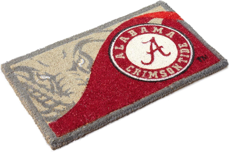 FANMATS NCAA University of Alabama Crimson Tide Vinyl Door Mat