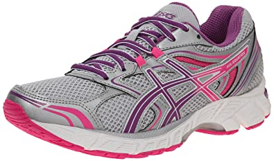 ASICS Women's Gel Equation 8 Running Shoe, Silver/Grape/Hot Pink, 5