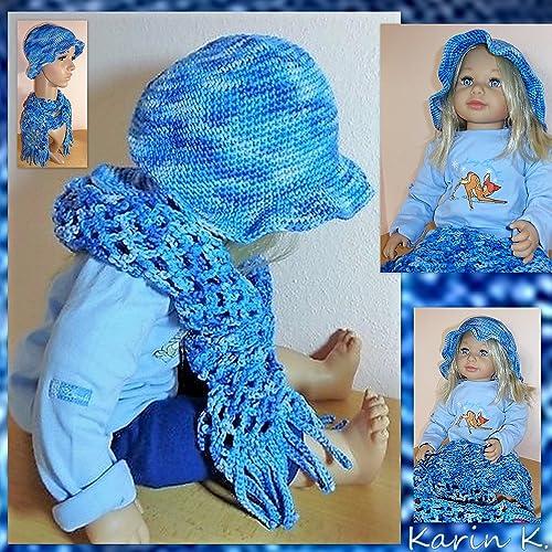 Mama Baby Set In Wunderschönem Blau Im Farbverlaufbaby Hütchen