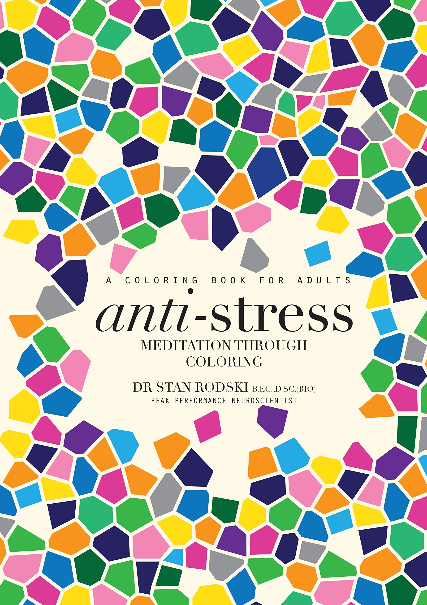 Anti-Stress Coloring Book with Bright Ideas Neon Pencils: Amazon ...