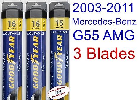 2003 – 2011 Mercedes-Benz G55 AMG Base hoja de limpiaparabrisas de repuesto Set/