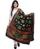 Banjara India Women's Cotton Embroidered Kutchi Dupatta Chakachak