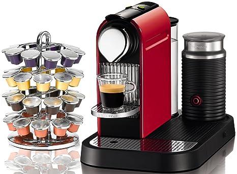 Amazon.com: C120 de Nespresso Citiz & Milk bomberos rojo ...