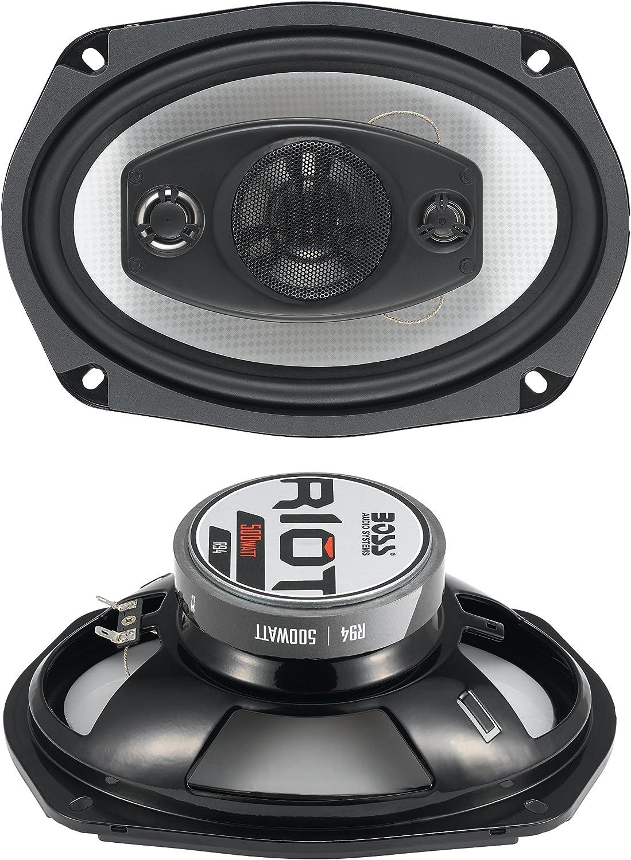 BOSS Audio Systems R94 500 Watt Per Pair, 6 x 9 Inch, Full Range, 4 Way Car Speakers Sold in Pairs