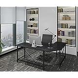 Modern Computer Desk L Shaped Corner Desk Home Office Desks,More Stable Structure Table,Design by Ulikit (Black-1)