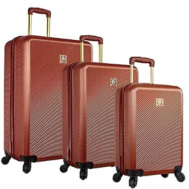 Anne Klein 3 Piece Hardside Spinner Luggage Set