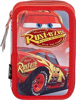 9144f9e0856fa9 Cerdá Disney Cars Astuccio 3 Scomparti e 43 Accessori Scuola, Bambino, Rosso