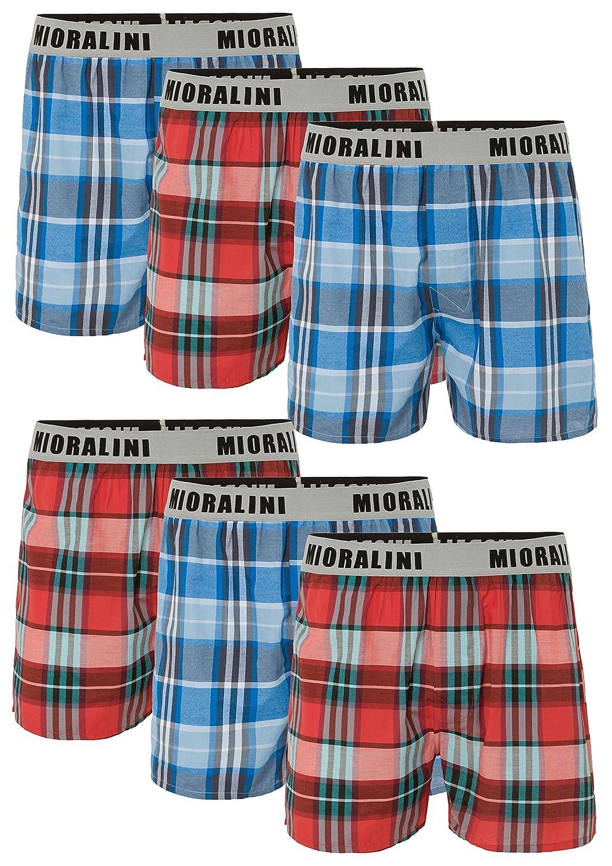 MioRalini 6 100% algodón & Suelto EEUU Estilo webboxer Calzoncillos bóxer en 6 Colores Cuadros modelos, calzoncillos boxer de…