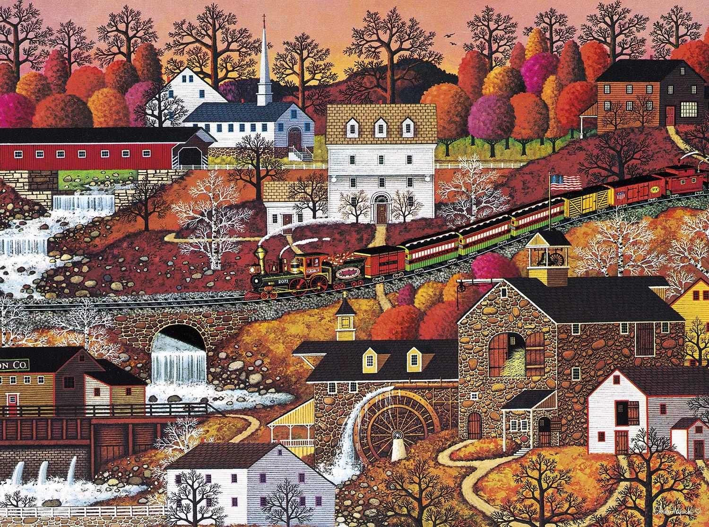 Buffalo Games - Charles Wysocki - Waterfall Valley - 1000 Piece Jigsaw Puzzle