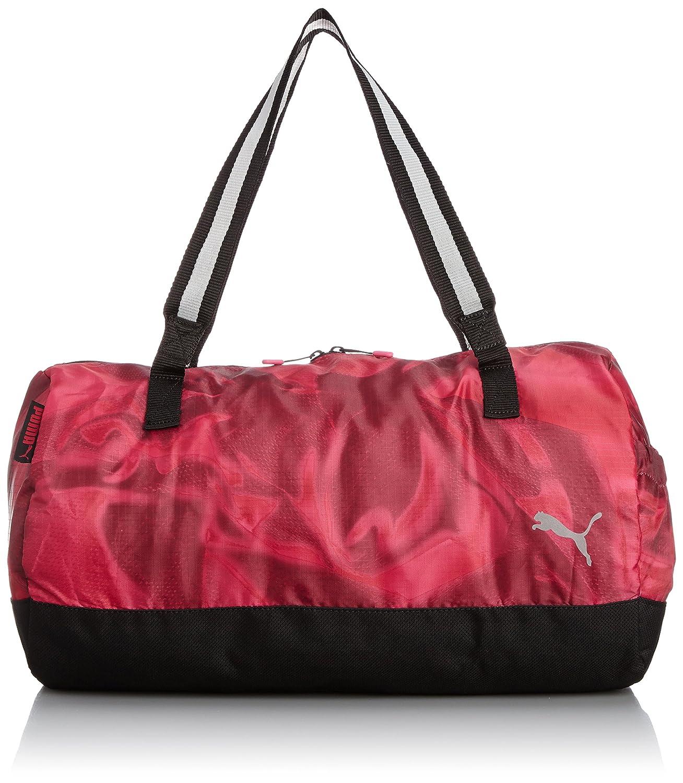 fb1ca5a30754 Puma Fitness Studio Women s Barrel Sports Bag Pink Bright Rose-Fuchsia  Purple-Graphic Size 46.5 x 25 x 25 cm  Amazon.co.uk  Sports   Outdoors