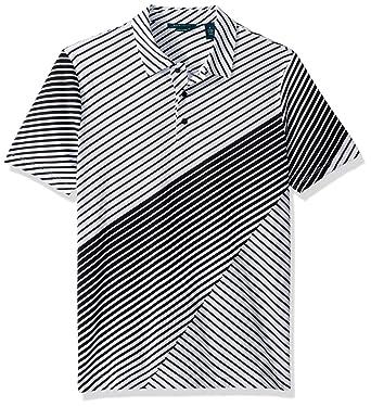 Perry Ellis Hombre Manga Corta Camisa Polo - Negro - Small: Amazon ...