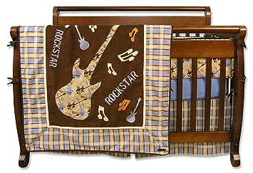 Glenna Jean Doodle Bug 4 Piece Crib Set Pink//Brown
