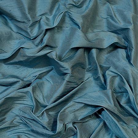 One yard of  black dupioni silk blend