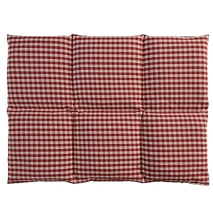 Cojín de semillas de lino | 40x30 rojo-blanco | Algodon ...