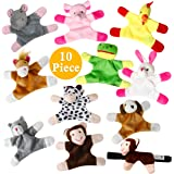 Animal Magnets Toy Set for Refrigerator, Fridge and Board Magnets, Plush Animal Toys (10-Piece Set)