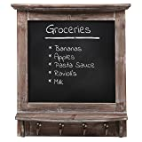 MyGift Wall Mounted Country Brown Rustic Wood