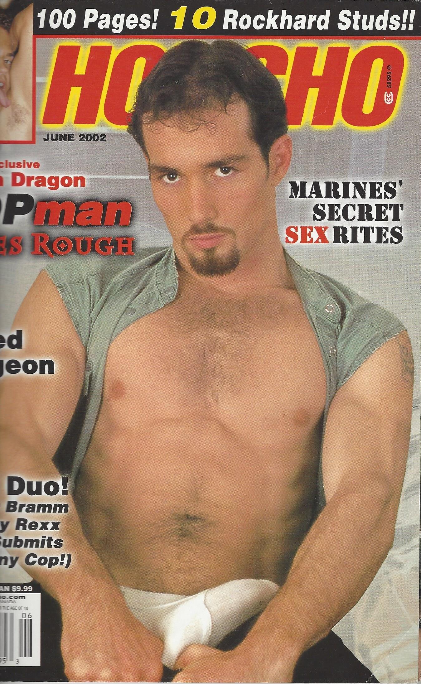 Honcho Gay Men's Magazine Justin Dragon June 2002 Paperback – 2002