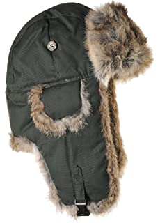 Mad Bomber Original Wool Aviator Pilot Hat Real Rabbit Fur Trapper Hunting  Cap 164b3a922bf8