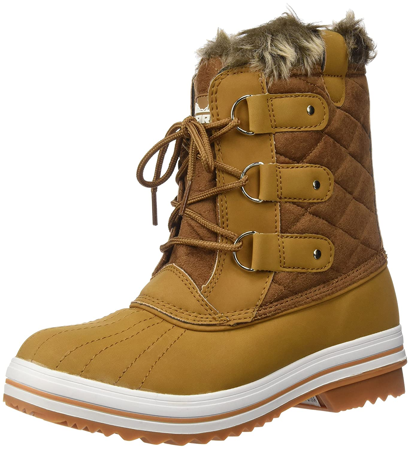 Polar Products Womens Snow Boot Quilted Short Winter Snow Rain Warm Waterproof Boots B00YURGM1K 40 M EU / 9 B(M) US|Tan Suede