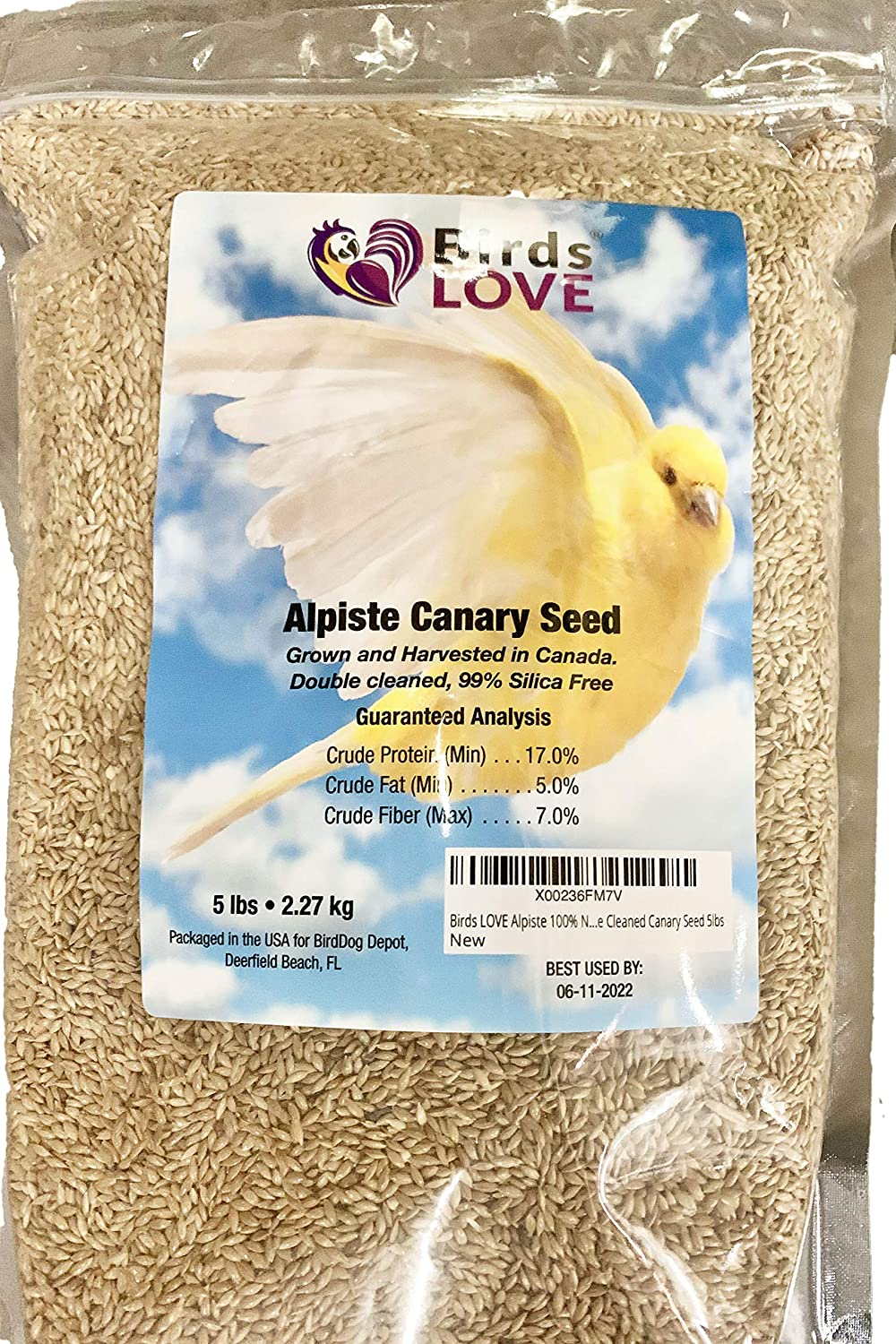 Birds LOVE Alpiste 100% Non-GMO Triple Cleaned Canary Seed 5lbs