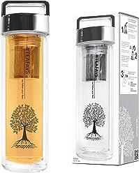 Teiera Henkel, variazione di versione Amapodo Teeflasche mit Sieb und Deckel mit Griff, Farbe: Silber