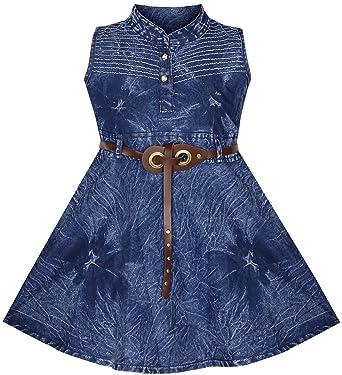 ae1d59b97 BENKILS Cute Fashion Baby Girl's Infant Jeans Frock Dress (Design 5, 3-6