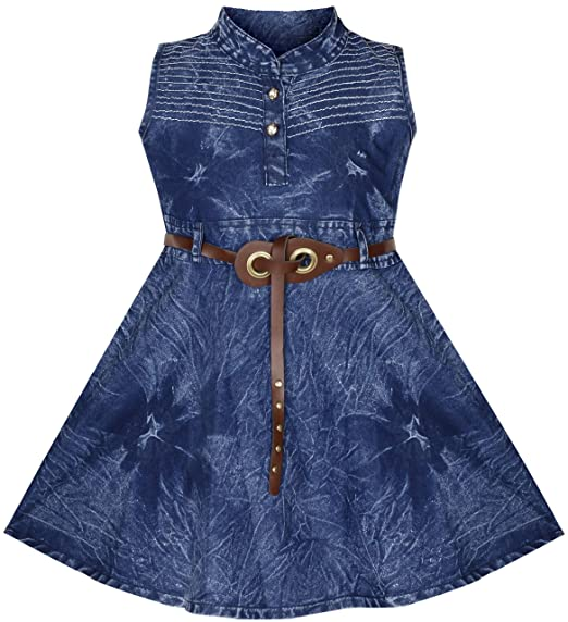4549654250 BENKILS Cute Fashion Baby Girl s Infant Denim Party Wear Frock Dress   Amazon.in  Clothing   Accessories