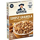 Quaker Simply Granola Oats, Honey & Almonds, Breakfast Cereal, 28 oz Boxes, (2 Pack) (00030000563137)
