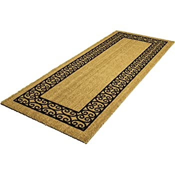 decoir 24 x 60 39 charleston border 39 large coir double door mat garden outdoor. Black Bedroom Furniture Sets. Home Design Ideas