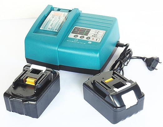 Herramientas Batería 18 V + 1,5 a Cargador para Makita DC 18 ...