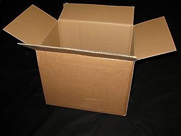 Richel GmbH - Cajas de mudanza cajas de cartón 18 x 18 x 20 fuerte doble pared - Pack de 10: Amazon.es: Oficina y papelería