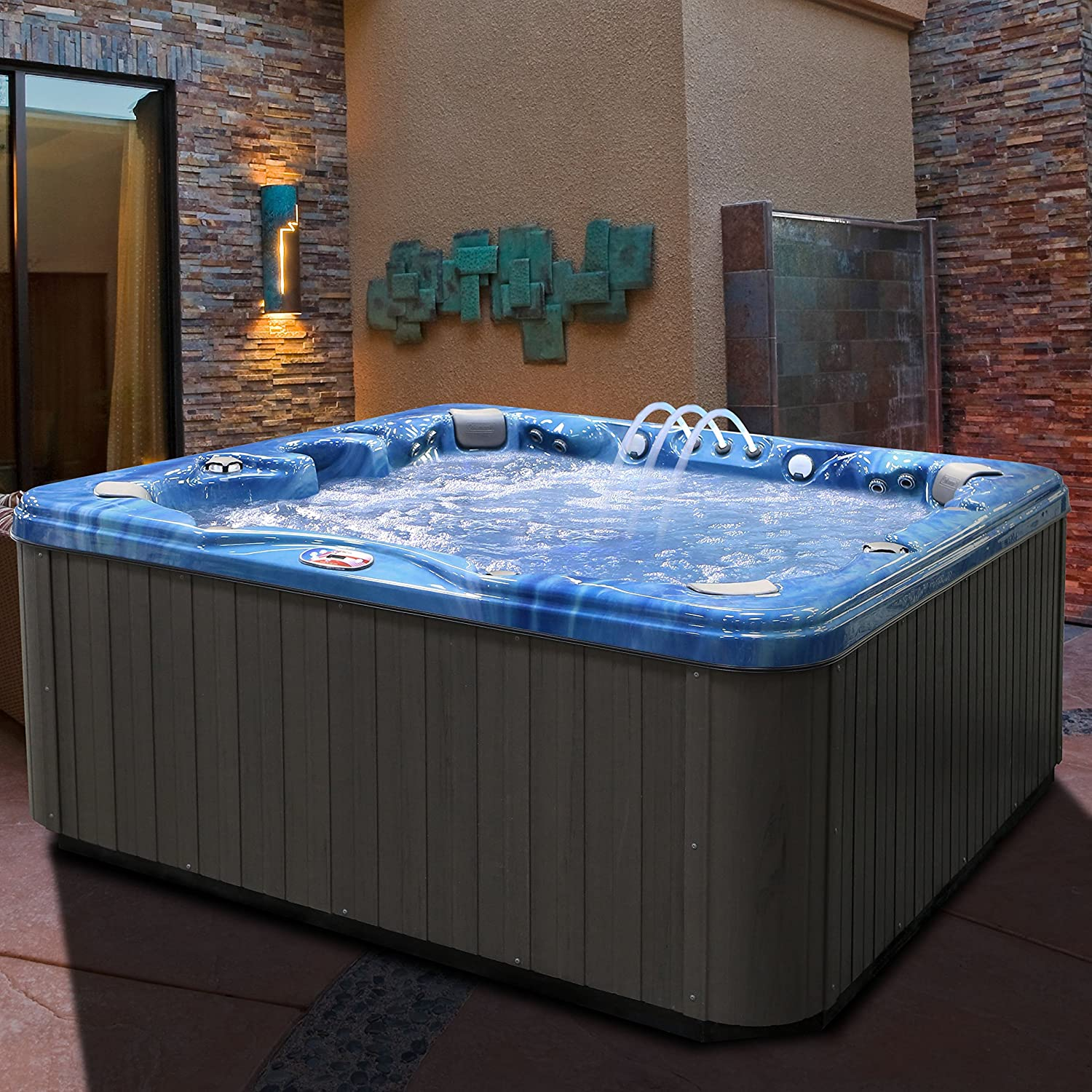 Amazon.com : American Spas AM-756BP 6-Person 56-Jet Bench Spa with ...