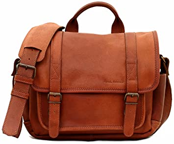 img buy LE PETIT REPORTER Light Brown leather camera bag with adjustable interior compartments PAUL MARIUS