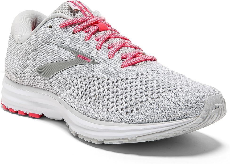 Brooks Revel 2 Sneakers Damen Grau/Weiß/Rosa