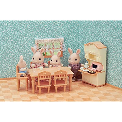 Sylvanian Families Mini Universal Dining Room Furniture, 5340, Multi-Colour: Toys & Games