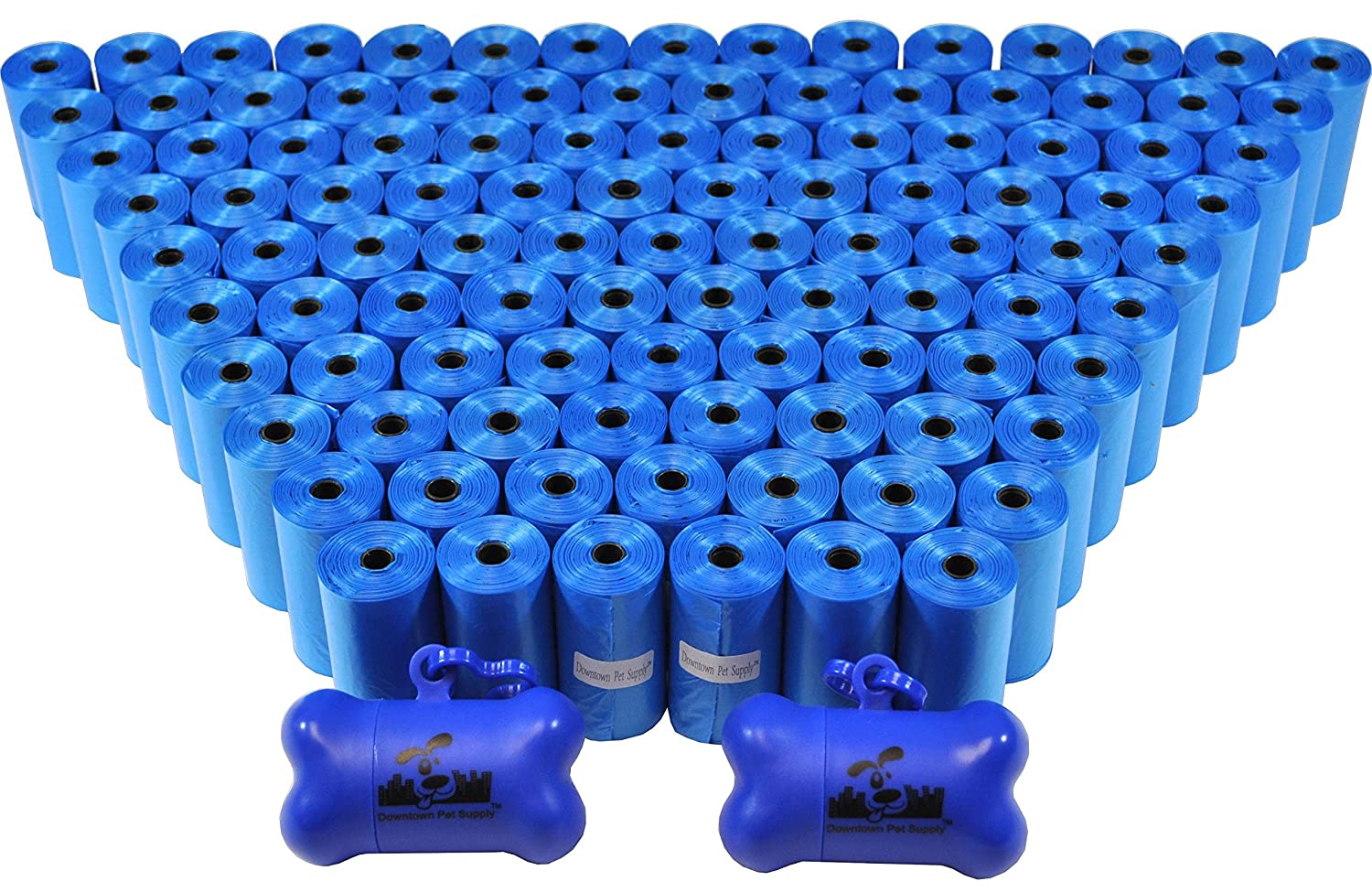 bluee 2200 Bags bluee 2200 Bags Downtown Pet Supply Dog Pet Waste Bags with Two Free Leash Clips and Dispensers, 2200 Bags, bluee
