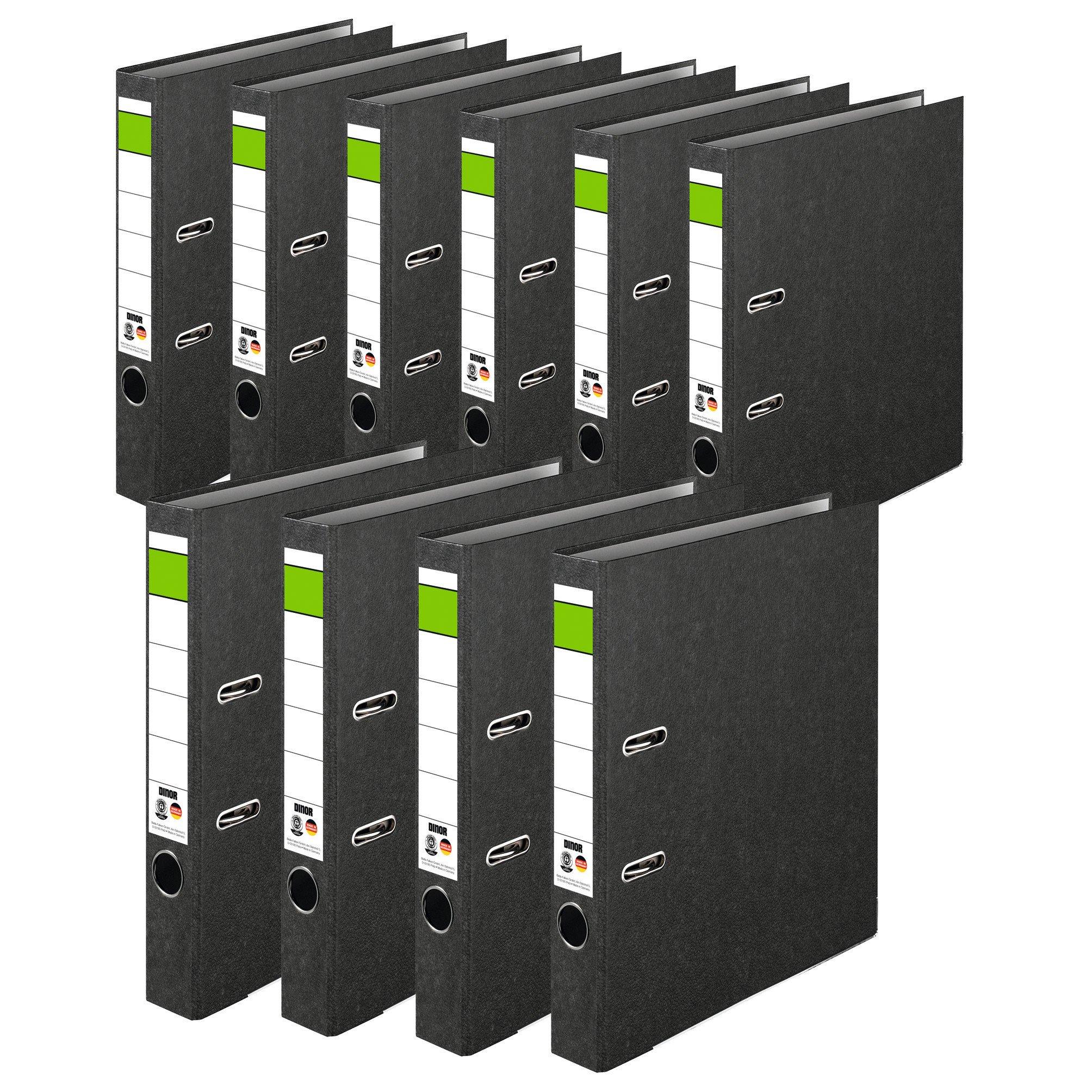 Ordner Recycling Cloudy. 5cm DIN A4Black 10er Pack schmal black