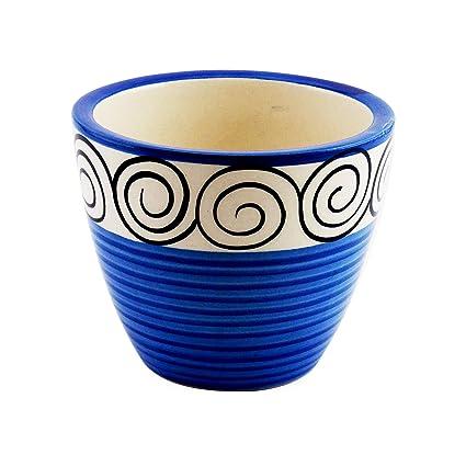 YELLOWTABLE Mini Ceramic Flower Pot Batik Print (Height-3 inch) Planter for Balcony Indoor Plants Outdoors Amazon.in Garden \u0026 Outdoors  sc 1 st  Amazon.in & YELLOWTABLE Mini Ceramic Flower Pot Batik Print (Height-3 inch ...