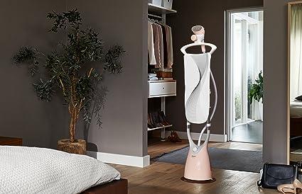 Philips ComfortTouch GC552/40 Plancha Vertical con Cepillo de Vapor, Cabezal oscilante, Percha Integrada, 1800 W, 1.8 litros, Color Rosa y Blanco