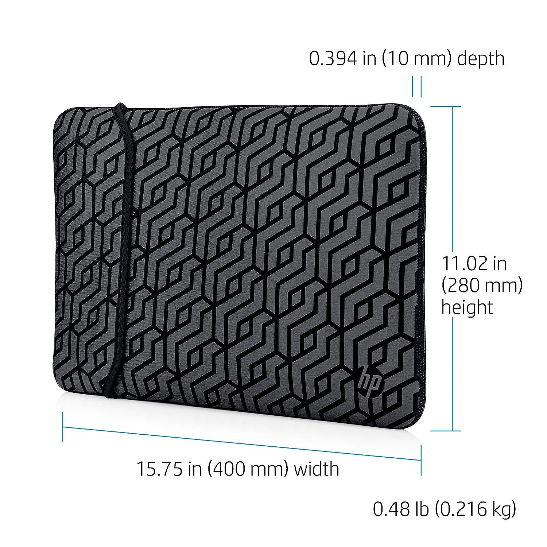72e6619b1ac Amazon.com: HP 15-inch Laptop Reversible Neoprene Sleeve (Black/Geo  Pattern): Computers & Accessories